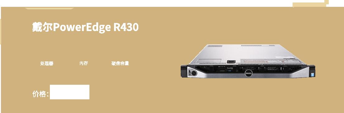戴尔PowerEdge R430